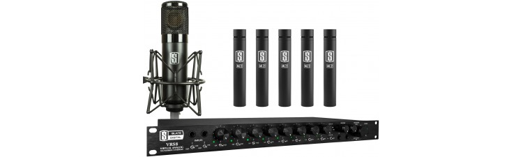 Slate - VRS8 + ML-1 Large Diaphragm Modeling Microphone + 5 ML-2 Small Diaphragm Modeling Microphone