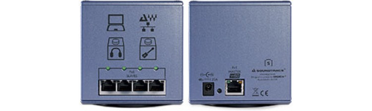 DiGiGridS Power over Ethernet for Audio Networks