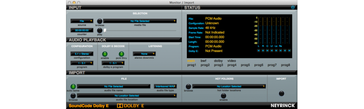 SoundCode For Dolby E Decoder