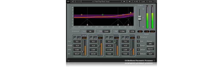 Waves: C4 Multiband Compressor